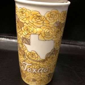 Starbucks Texas Yellow Rose Ceramic Travel Mug